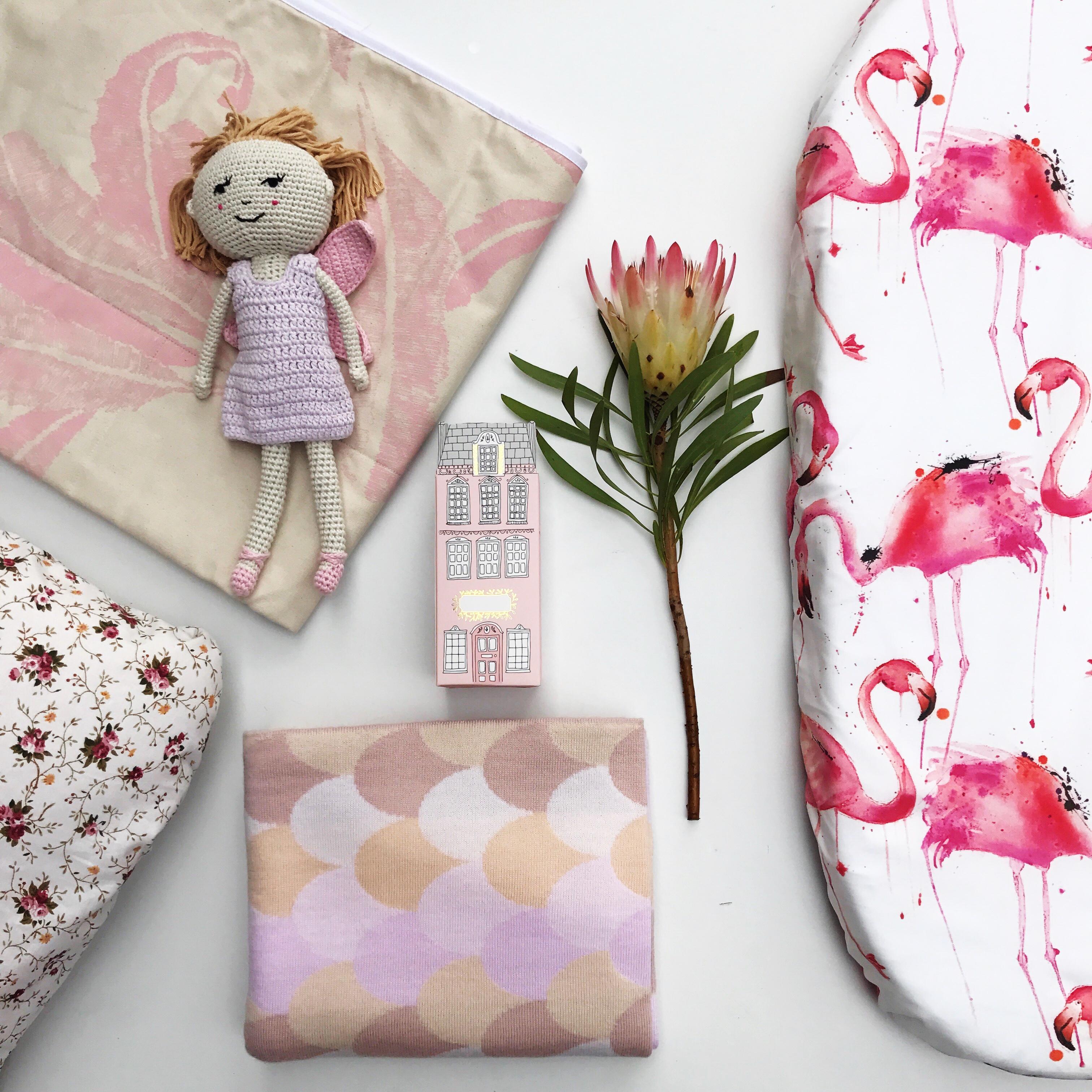 flatlay, styling, nursery