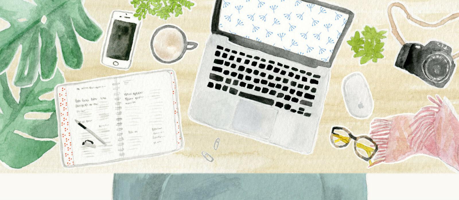 Custom illustration, small business branding, TUBU Collective