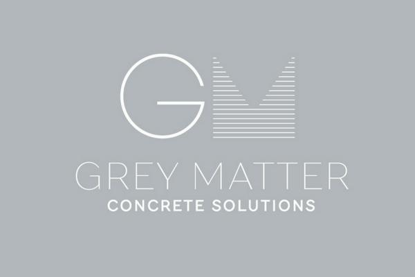 Grey Matter Concrete Solutions logo design